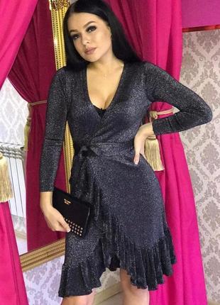 Платье с люрексом фабричный китай 🇨🇳