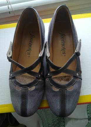 Туфли на низком ходу footnotes (сша),натуральная замша