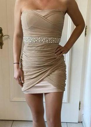 Класна позбирана сукня бандо тренд 65грн. розпродаж