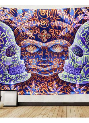Картина текстильная гобелен настенный мантра