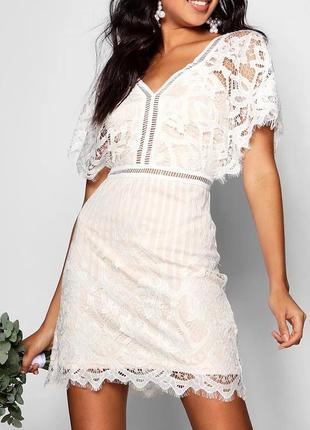 Платье кружево плаття мережевне boohoo