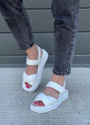 Босоножки сандали с липучками натуральная кожа