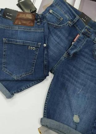 Стильные джинсовые мужские шорты dsquared