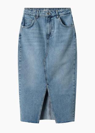 Джинсовая юбка миди orsay - 34, 36, 38, 40, 42