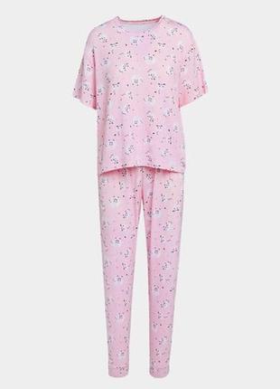 Размер xl мягкая пижама с короткими рукавами из англии
