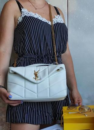 Женская сумка белая , сумка белая 30 см