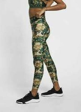Nike camo running tights тайтсы лосины тренировочные р. xs оригинал