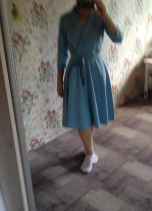 Платье шелковое с юбкой-солнце р.42-44