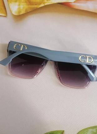 Эксклюзивные брендовые солнцезащитные женские очки двухцветные 2021