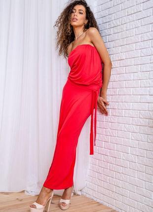 Красивое однотонное женское платье в пол длинное женское платье макси женское платье с поясом
