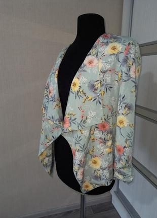 Пиджак жакет кардиган в цветочный принт 🌺