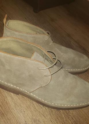 Замшевые ботинки zara man