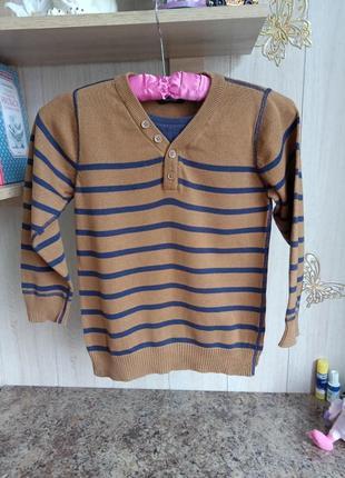 Тонкий хлопковый свитер