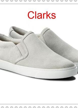 Clarks женские замшевые слипоны р.38.5, 39 оригинал