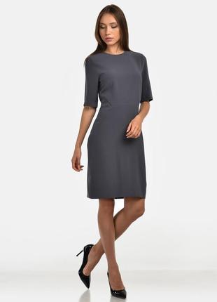 H&m-швеция-эллегантное серое платье из креповой ткани