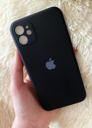 Чехол silicone case full+camera square для iphone 11 black