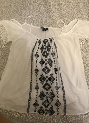 Вишиванка футболка блузка з вишивкою s