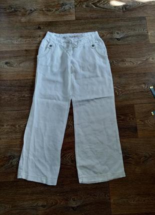 Легкие штаны брюки лен широкие