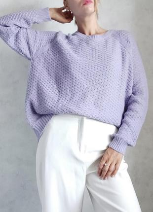 Лиловый свитер джемпер papaya