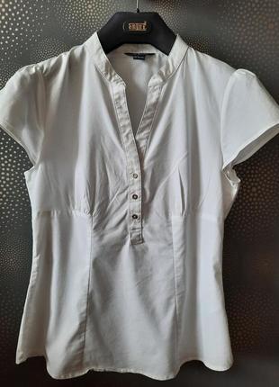 Белая блуза с коротким рукавом ostin