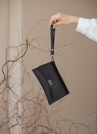 Черна маленькая сумка на пояс бананка кроссбоди мини-сумочка через плечо нагрудная сумочка