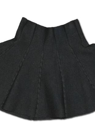 Юбка черная вязанная
