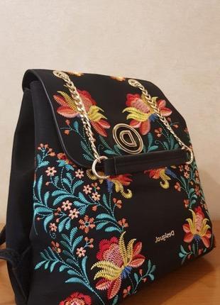 Рюкзак женский desigual c вышевкой
