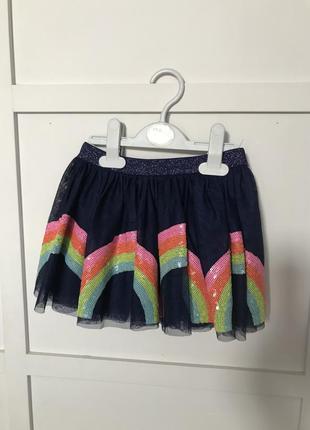 Фатиновая юбка в пайетках 2-4 г