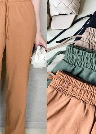 Летние брюки /креп жатка/большого размера