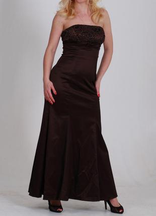 """Внимание, девули! супер брендовое вечернее платье шоколадного цвета """"coast"""""""