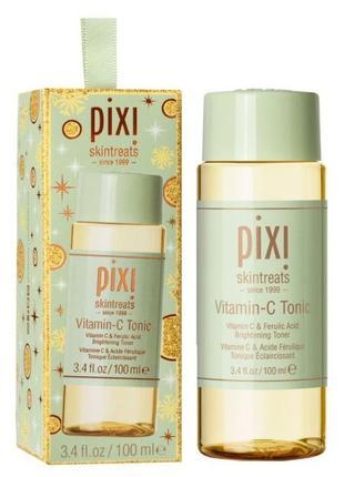 Осветляющий тоник с витамином с pixi vitamin-c tonic 100мл в подарочной коробочке