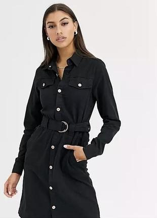Джинсовое платье-рубашка new look