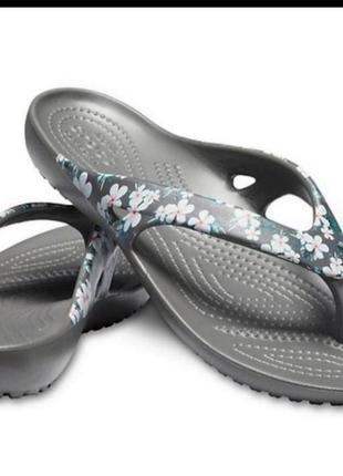 Шлепки вьетнамки crocs kadee ii seasonal flip , оригинал