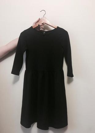 Чёрное миди платье на талии приталенное
