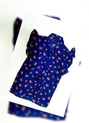 Шифоновая блуза в цветочек
