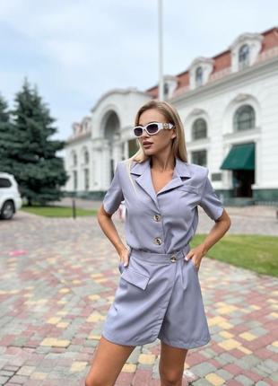 Костюм женский юбка-шорты и пиджак с плечиками