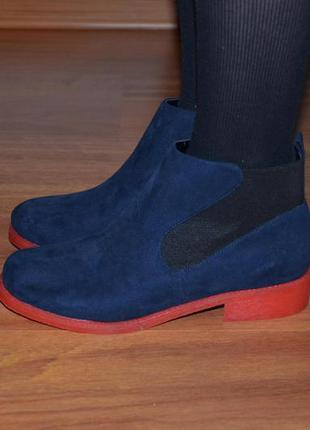 Осенние ботинки синие asos размер 5 (38)