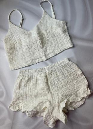Пижама из муслина на жаркое лето, размер s m