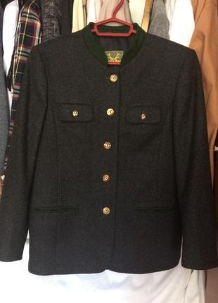 Оригинальный шерстяной пиджак пальто винтажный