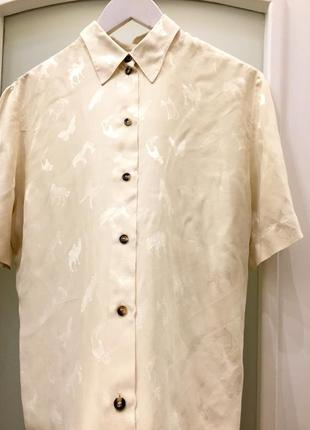 "Нова. блуза  шовк айворі «animals "" silk"