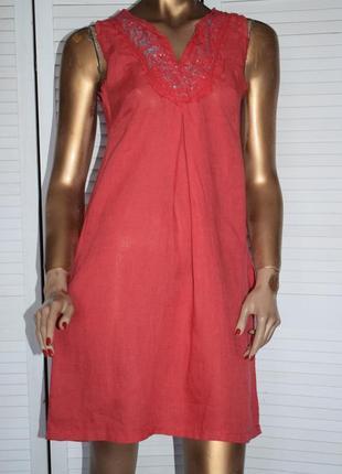 Льняное платье made in italy