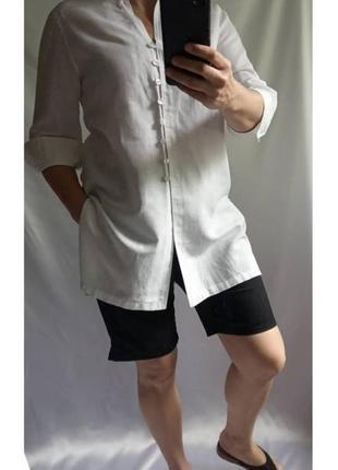 Классная брендовая удлиненная рубашка, туника, платье 60% лён