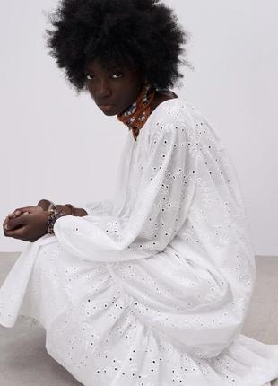 Белое платье миди zara в наличии размер xs