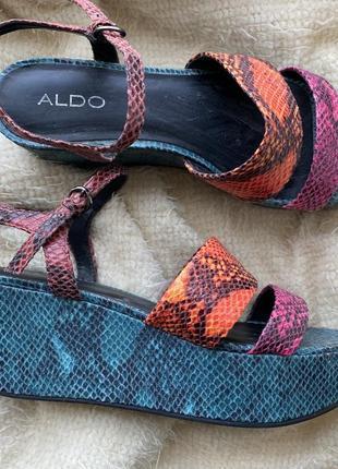 Комфортные босоножки aldo с змеиной фактурой