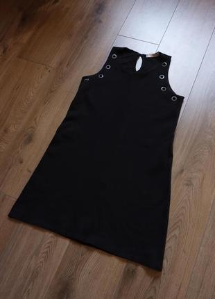 Чорне плаття/сарафан з люверсами