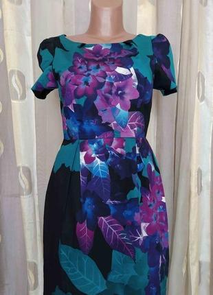 Котоновое платье в цветочный принт belly by oasis размер s/m