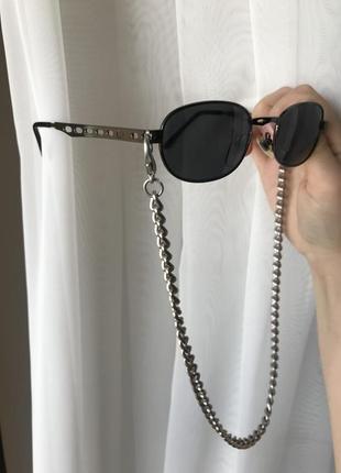 Трендовые очки с цепью окуляри