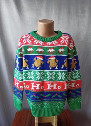 Кофта свитер рождественский принт