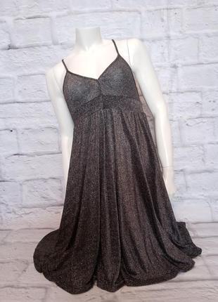 Люрексовое платье,люрексова сукня на бретельках,платье металик из люрекса,блестящее платье