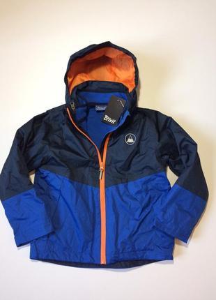 Демисезонная куртка-трансформер crivit для мальчика 6-8 лет. брак